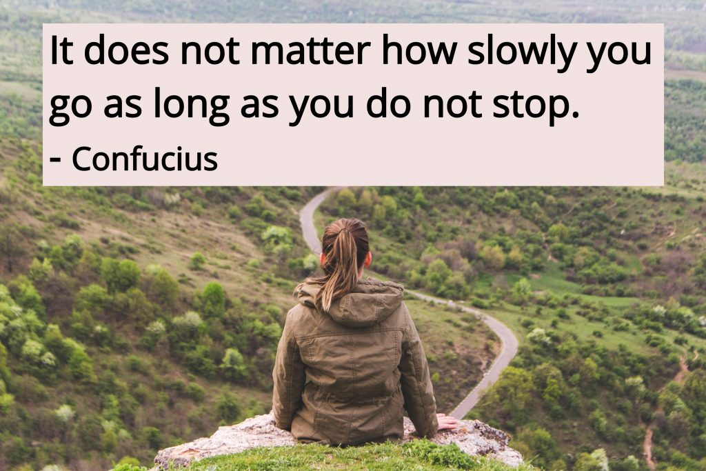 confucius quote on life as a journey