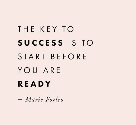 start before being ready positive quotes for work