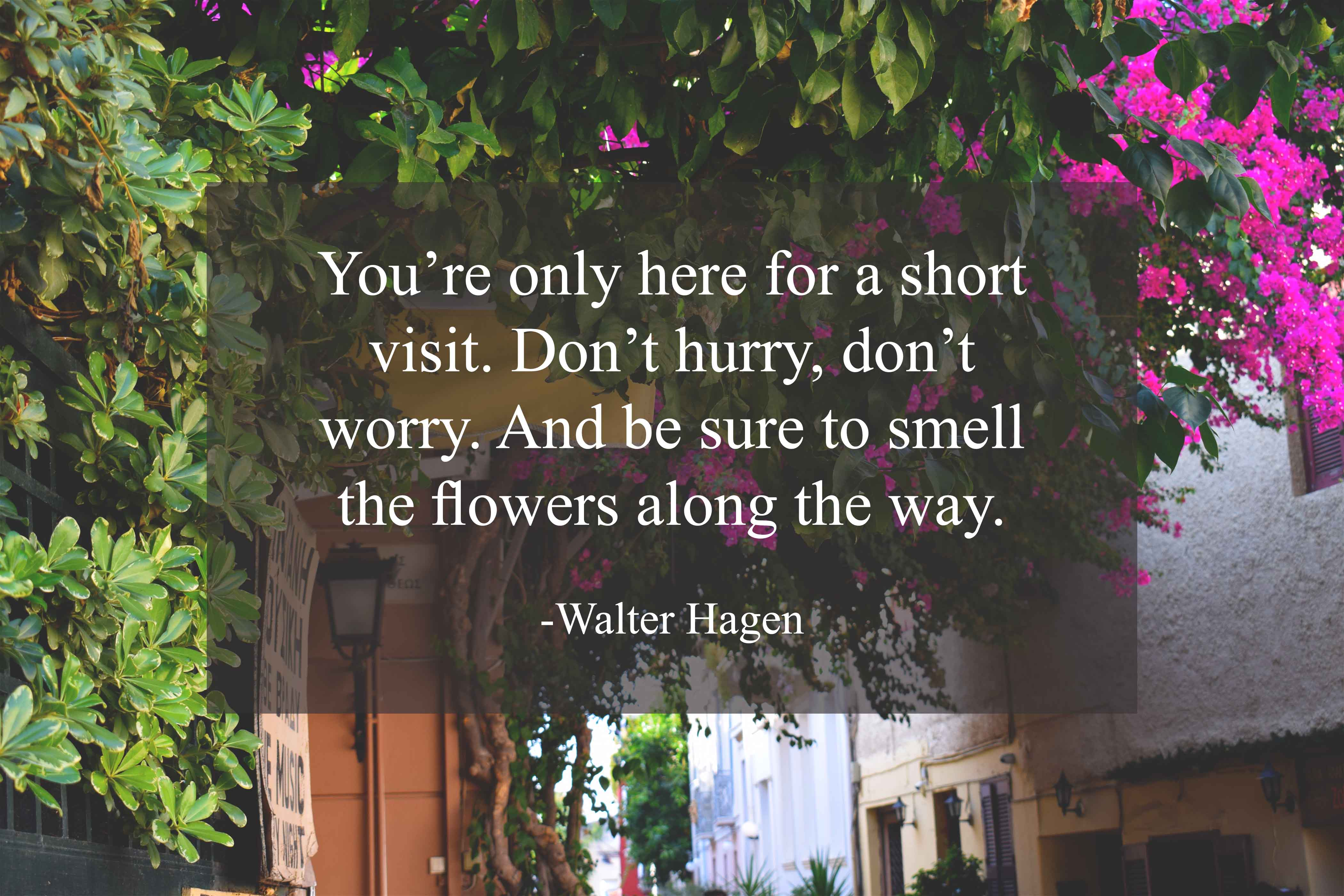 Walter Hagen life is beautiful quotes